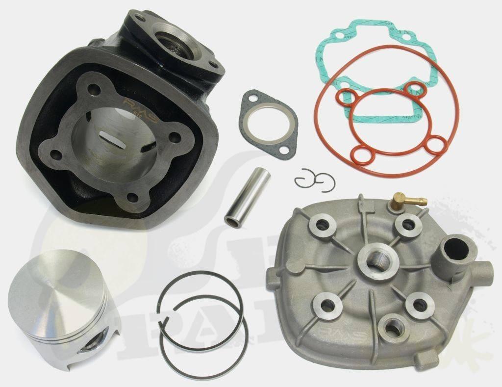 70cc cylinder kit - piaggio 50cc l/c | pedparts uk