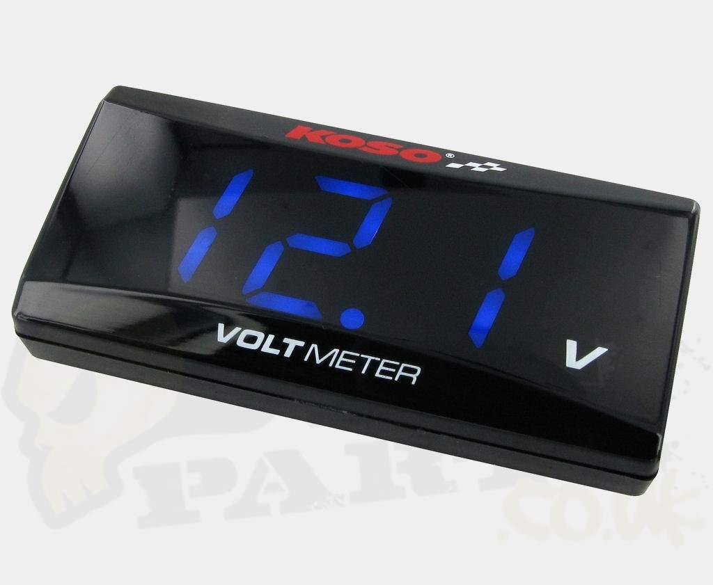 Digital Voltage Meter : Koso digital volt meter pedparts uk