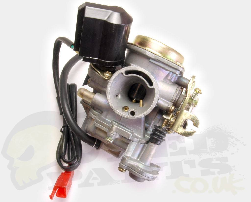piaggio/ chinese 4 stroke carb and choke kit | pedparts uk