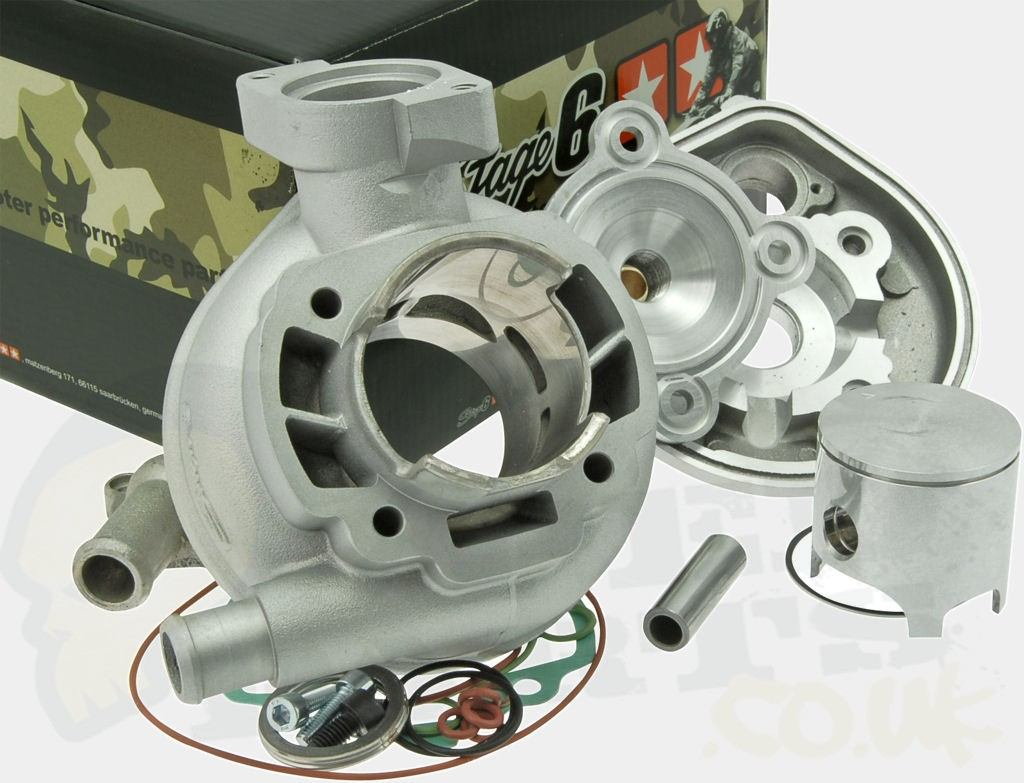 PedParts UKStage6 Racing Cylinder Kit 70cc - Peugeot LC