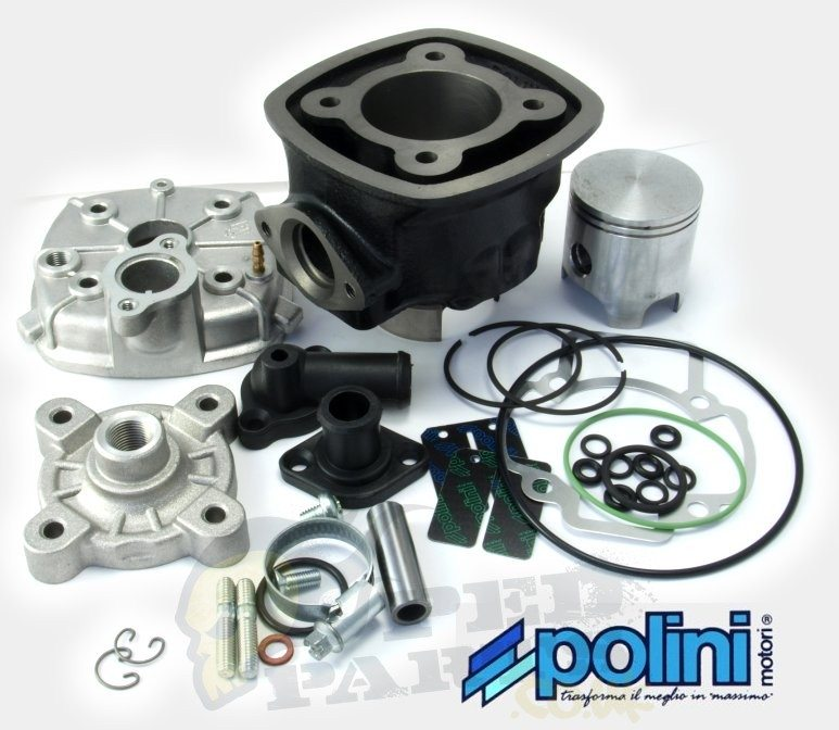 Cylinder Head For Cylinder Piaggio Liquid Cooled: Polini Sport Liquid Cooled 70cc Piaggio Cylinder Kit