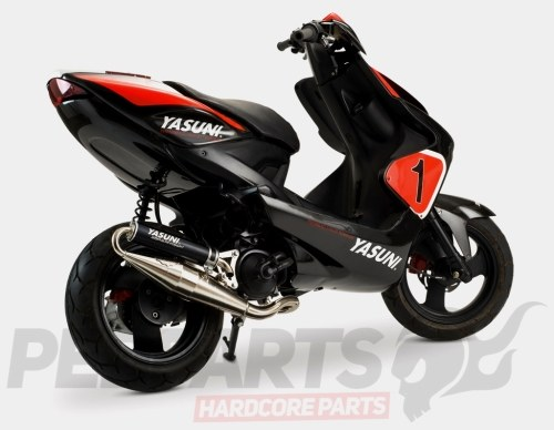 Chrome Yasuni Z Exhaust - Yamaha Aerox/ Minarelli