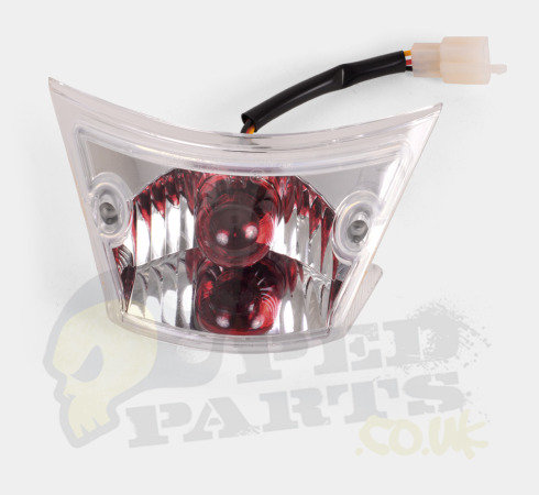 Clear Rear Tail Light  - Piaggio Zip