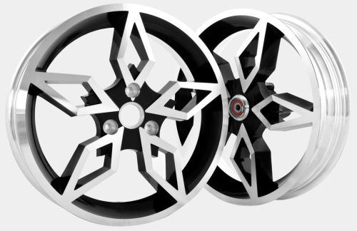 Gyronetics Black Diamond Racing Wheels - Yamaha Aerox