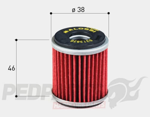 Malossi Red Chilli Oil Filter - Yamaha YZF-R125/ X-MAX