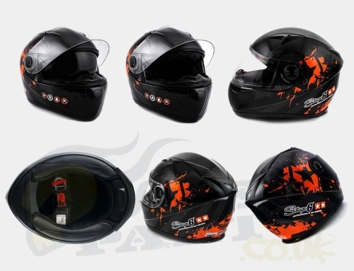 Stage6 MKII Black Edition - Full Face Helmet