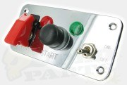 Aluminium Pilot Style Console Switch Panel