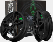 Gyronetics Black Ghost Wheel Set - Yamaha Aerox