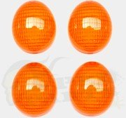 Orange Front & Rear Indicator Lens Set - Peugeot Ludix