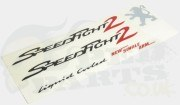 Peugeot Speedfight 2 Logo Stickers