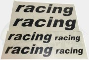 Racing Logo Stickers Set - Black Or Orange