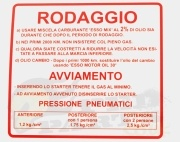 Rodaggio/ Run-in Badge- Vespa Rally