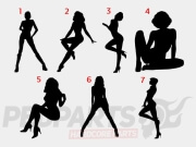 Silhouette Woman Stickers/ Decals